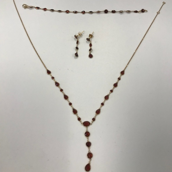 ced707a59cbc8 January birthstone necklace, Ring and Bracelet.